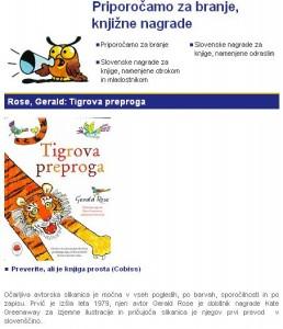 Priporočilo Tigrove preproge